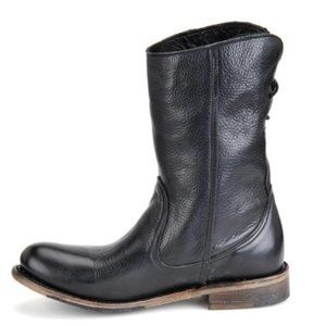 Walk Over Vintage Leather Pull Mid Calf Moto Boots